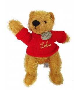 DOUDOU ET COMPAGNIE - OURS Lolie Pull rouge - H 26 cm