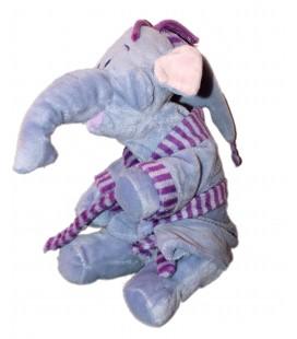 Doudou peluche éléphant mauve LUMPY Pyjama Peignoir 24 m Disney Nicotoy