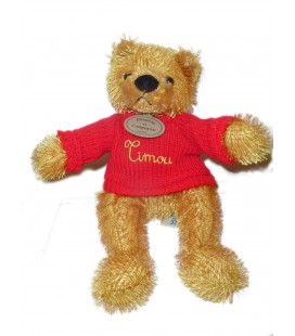 DOUDOU ET COMPAGNIE - OURS Timou Pull rouge - H 26 cm