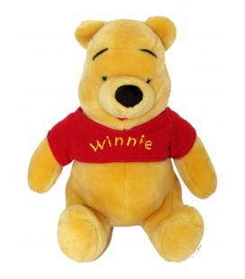 Peluche Winnie l'Ourson Disney - Pull tricot rouge H530 cm