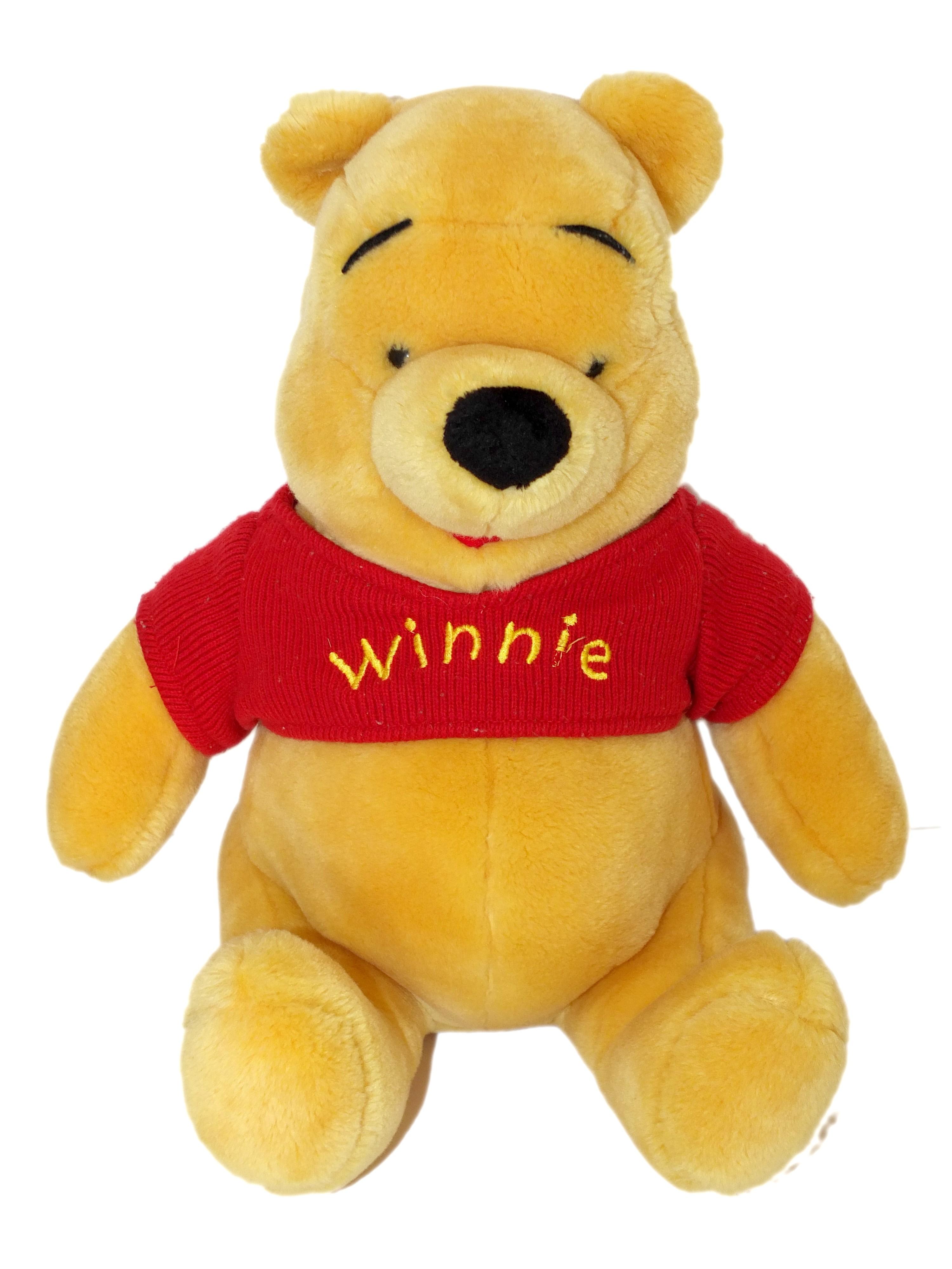 Peluche Winnie l'Ourson Disney Pull tricot rouge H530 cm