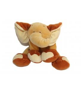 Doudou peluche ELEPHANT marron beige NOUKIE'S Noukies L 28 cm
