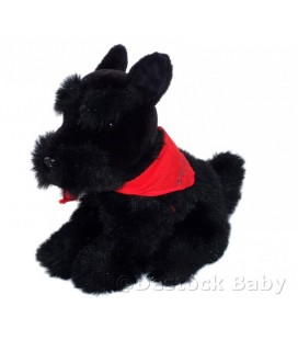 DOUDOU PELUCHE CHIEN NOIR CHIPIE SCOTISH-TERRIER 28 X 35 CM