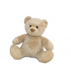 Doudou peluche OURS beige nez marron NICOTOY - 20 cm - Ref. 581/3214 12535