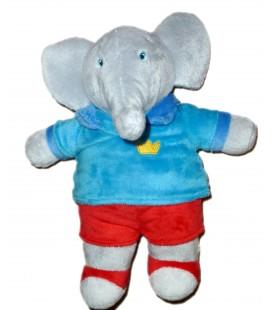 Peluche Doudou Alexandre Elephant BABAR LANSAY 27 cm Les Aventures de Badou