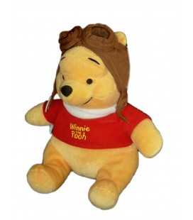 Doudou peluche Winnie L'ourson Aviateur the Pooh DISNEY Nicotoy H 25 cm