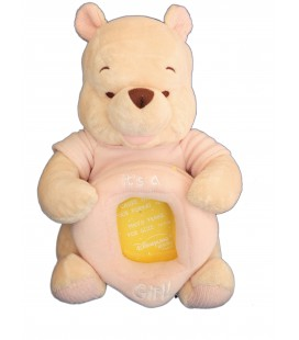 Cadre Photo peluche WINNIE L'ourson It's a Girl - Disneyland Disney Store H 25 cm