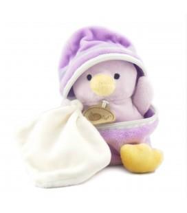 Doudou Poussin Canard mauve Mouchoir Coquille BABY NAT Babynat