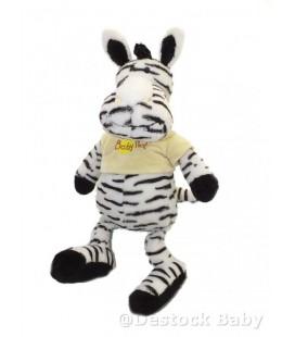 Doudou peluche ZEBRE blanc noir BaBY NaT' Babynat 43 cm