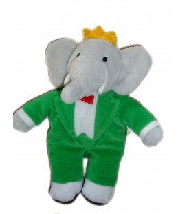 Peluche Doudou Elephant BABAR - GUND - H 20 cm