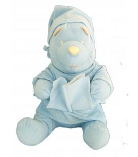 Peluche WINNIE L'OURSON Livre bleu - H 32 cm - Disney
