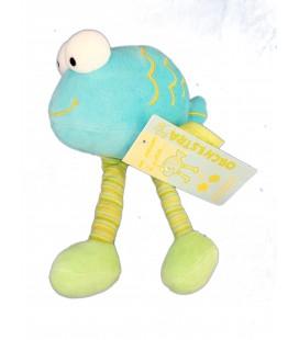 Doudou Poisson à pattes bleu Vert - ORCHESTRA - Grelot