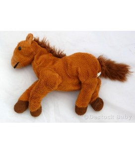 Doudou peluche Cheval Poney marron CP INTERNaTIONaL - 26 cm