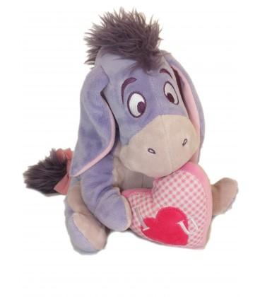Doudou peluche BOURRIQUET Assis Coeur I love you Disney PTS SRL H 25 cm
