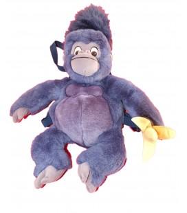 Peluche Sac à Dos singe bleu TOK Plush Banane Tarzan DISNEY Jemini H 45 cm