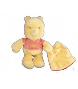 Peluche doudou Winnie l'Ourson Mouchoir Disney Nicotoy H 28 cm 587/9669