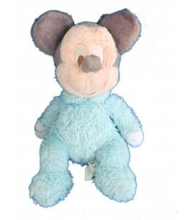 Doudou MICKEY bleu clair - Disneyland Paris - Grelot - Hauteur assis 22 cm