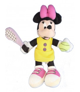 VINTAGE Peluche de collection - MINNIE Joue au Tennis - Disney Mattel - Star Bean