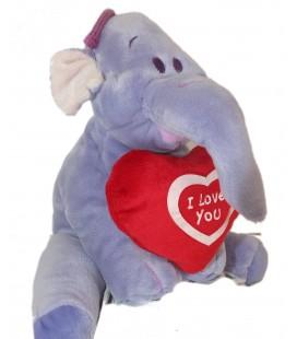 Doudou peluche LUMPY Coeur I love you H 22 cm Disney Nicotoy 587/0357