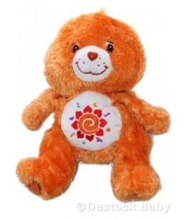 Doudou peluche BISOUNOURS oranGe Amigo - fleur Care Bear 30 cm Jemini