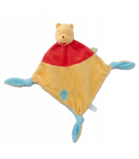 Doudou plat Winnie Disney Baby Nicotoy Fleur 3 noeuds 587/5088