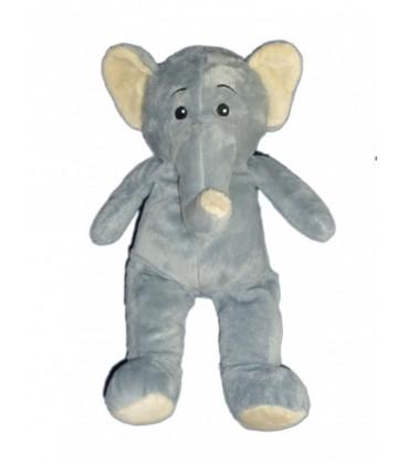 Peluche Doudou Elephant gris MAX & SAX 38 cm