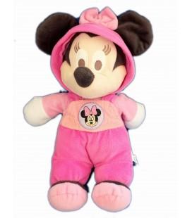 Doudou peluche - MINNIE - Pyjama Rose - Salopette - H 33 cm Disney