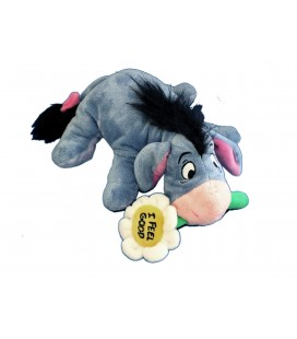 Peluche Doudou Bourriquet Eeyore Allongé Fleur I feel Good - Disney Disneyland Paris - H 18 cm