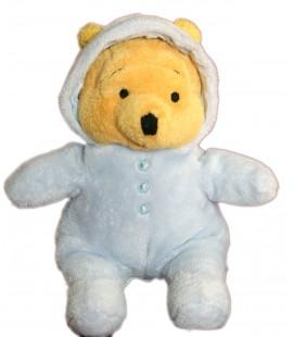 Doudou Winnie Pyjama bleu capuche 20 cm Disney Nicotoy 587/0881