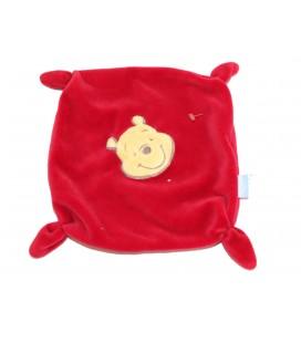 Doudou plat rouge WINNIE The Pooh 4 noeuds - Disney Baby GSA