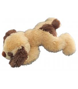 Peluche CHIEN allongé qui aboie - Beige clair marron GIPSY - L 35 cm
