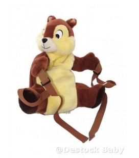 Doudou peluche SAC A DOS - Tic et Tac - Disney - 40 cm Authentique Disneyland