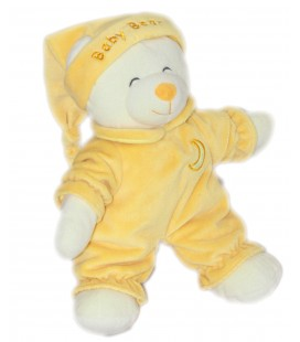 Doudou peluche OURS Jaune - Gipsy - Baby Bear - H 32 cm Lune brodée