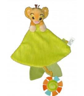 Doudou plat Vert Simba LE ROI LION Spirale Disney Simba 587/1708