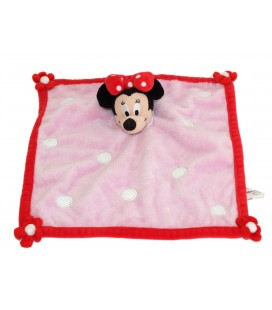 Doudou plat MINNIE rose Disneyland Resort Paris Carré Fleurs L 28 cm DN0606
