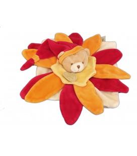DOUDOU ET COMPAGNIE - OURS pétales Fushia rouge orange jaune