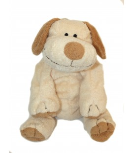 Peluche doudou CHIEN beige marron NICOTOY The Baby Collection Baby H 20 cm assis