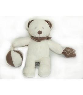 Doudou OURS blanc ballon etoile Bandana - Nicotoy Simba 20 cm