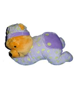 Peluche WINNIE couché Lumineux - Brille dans le noir - 30 cm
