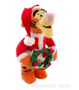 TIGROU chante Joyeux Noël s'allume 38 cm Disneyland Merry Christmas pelu