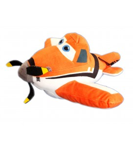 Peluche AVION Dusty - Doudou Disney - Orange - L 26 cm