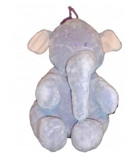 Grande peluche doudou - Lumpy - Elephant mauve - Disney Nicotoy - H 45 cm