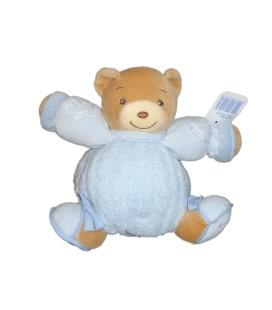 KALOO Doudou boule OURS Blue Bleu - Enfants brodés - 16 cm