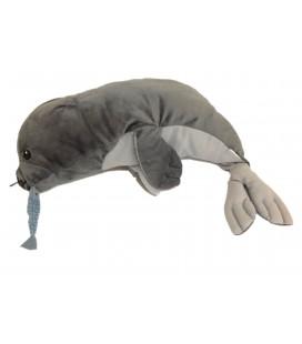Peluche doudou Phoque gris Otarie avec son poisson - IKEA - L 38 cm