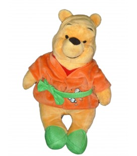 Doudou peluche Winnie Peignoir orange vert Bulles H 32 cm DISNEY Nicotoy