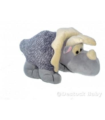 Doudou peluche RHINOCEROS gris NICI - Longueur 38 cm