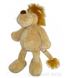 Doudou peluche LION beige marron clair NICI Moustaches Gd mod. 38 cm