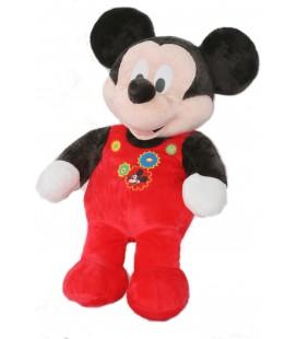 Doudou peluche MICKEY pyjama grenouillère rouge Disney Nicotoy 60 cm