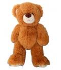 Doudou peluche OURS marron roux - Longs poils - GIPSY - H 35 cm