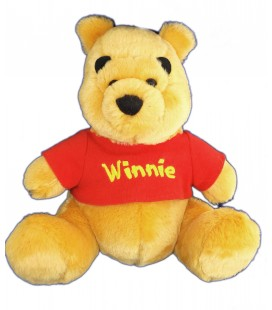 Doudou Peluche Winnie assis - Editions Atlas 2005 - H 24 cm